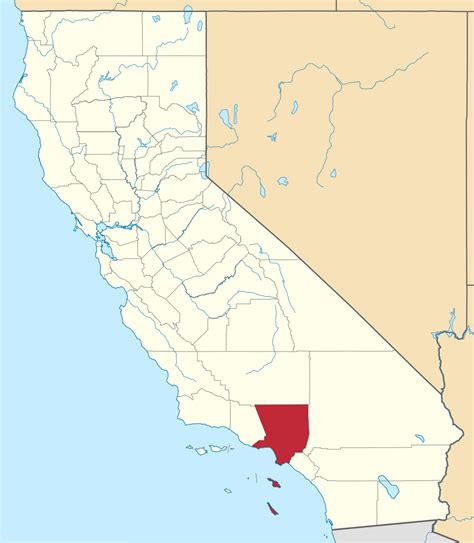 Search Los Angeles County File Map Of California Highlighting Los Angeles County Svg Facts For Kidzsearch