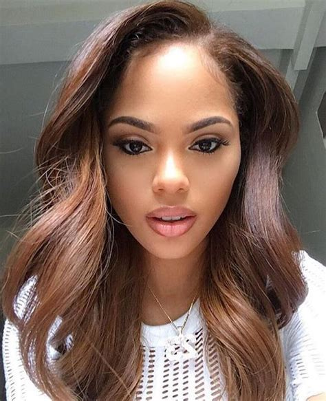 light brown hair for black women 43 best hair color for dark skin that black women want