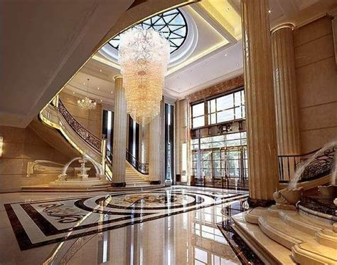 hall room interior  exotic marble floor  model tga