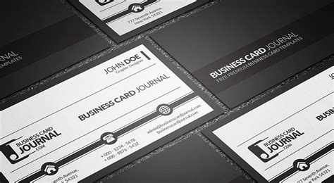 black and white card template free business card templates