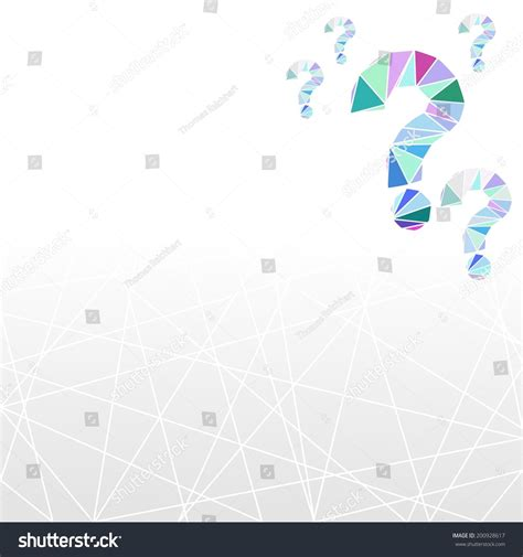 background quiz geometric low poly question quiz background stock vector