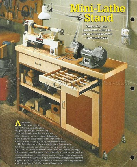 lathe bench plans mini lathe stand plans woodarchivist
