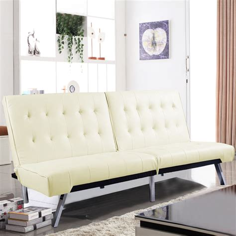 bed for living room costway splitback futon sofa bed sleeper couch living room