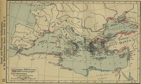 ancient mediterranean sea map map of the mediterranean sea 550 bc