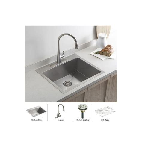 kohler stainless steel sink and faucet package kohler vault k 3822 1 package vs stainless sink