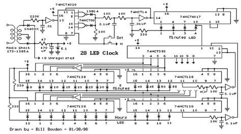28 Simple Led Clock Circuit Diagram Wiring Diagram And Schematics