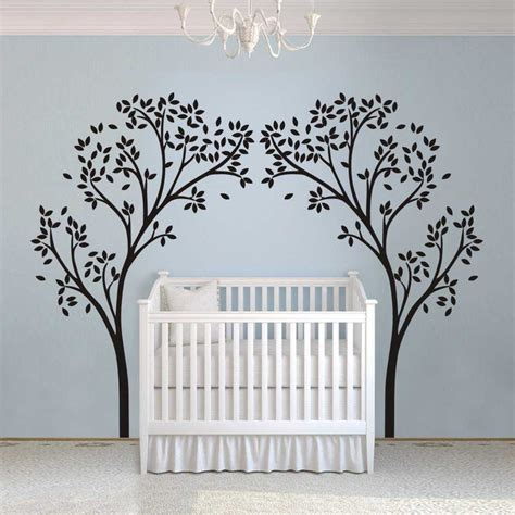 Nursery Wall Decals Australia Two Tree Nursery Wall Decal Stickers Auall226 64 00 Wall Stickers Australia