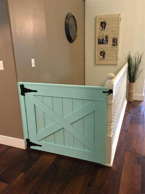 half a barn door as a safety gate bottled up designs