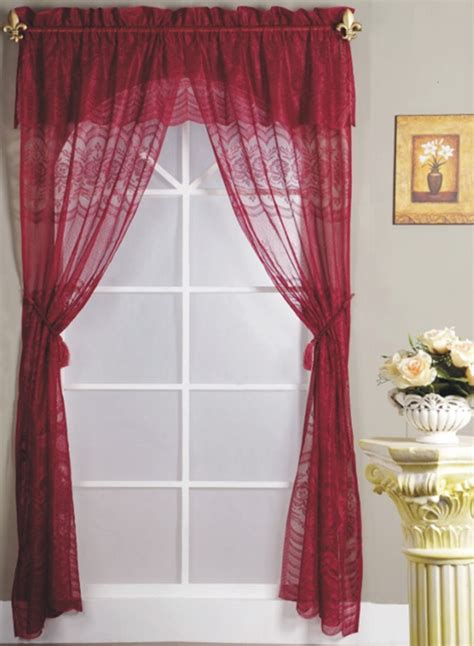 burgundy lace curtains popular burgundy lace curtains buy cheap burgundy lace