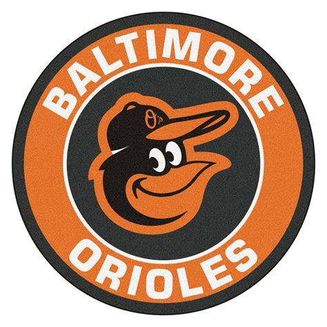 Military Home Decor by Baltimore Orioles Logo Roundel Mat 27 Quot Round Area Rug