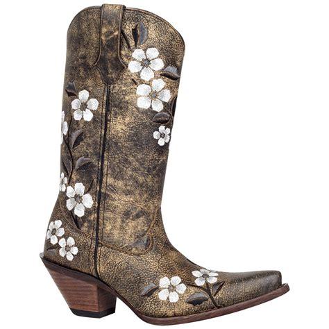 s floral boots s crush by durango 174 12 quot floral bouquet western boots