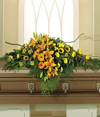 natures glory casket spray at from you flowers