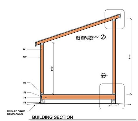 How To Build A Barn Style Roof by 8 215 8 Lean To Shed Plans Amp Blueprints For Garden Shed