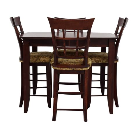 High Dining Table And Chairs 90 Skovby Skovby Sm 24 Dining Table With Butterfly Extensions And Six Chairs Tables