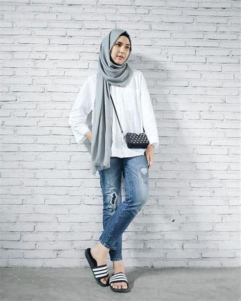 Pashmina Kasual by 30 Gaya Fashion Casual Terbaru 2017