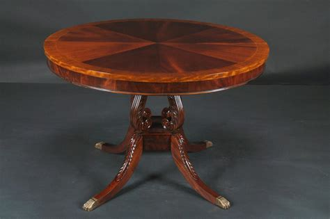 antique pedestal dining round mahogany pedestal dining table 44 quot reproduction