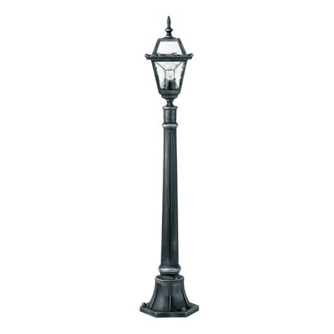 black post light buy garden l post black and silver