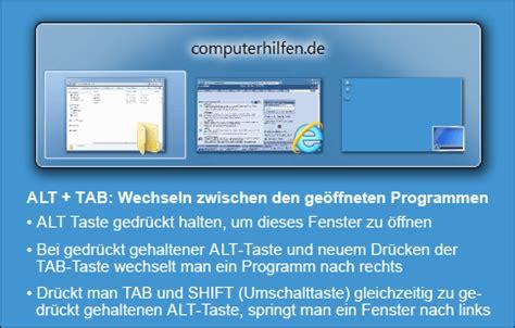 wichtige windows tastenkombinationen computerhilfen.de