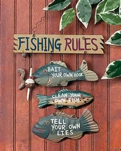 fishing sign cabin wall decor