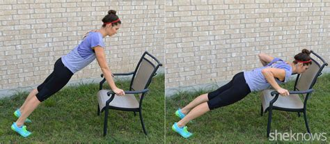 Chair Push Ups by 7 Exercises To Do With Only Your Patio Furniture Diet