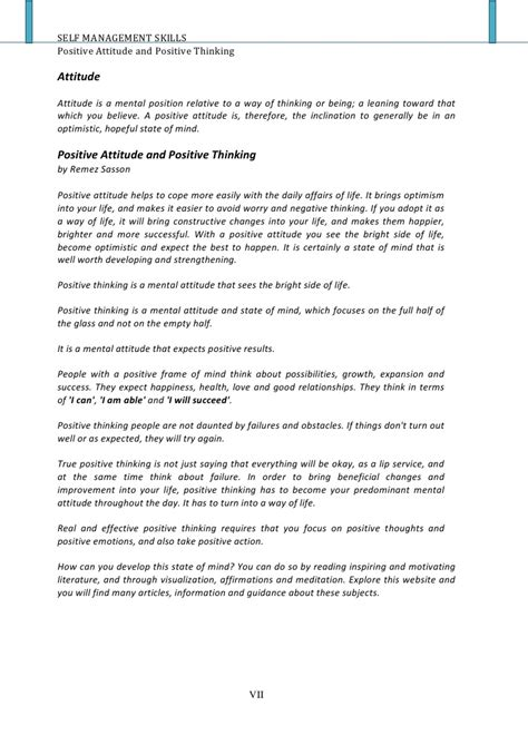 Positive Thinking Essay Writing by Essay Writing On Positive Attitude Docoments Ojazlink