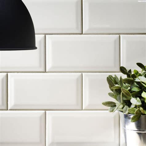sle of metro cream beveled ceramic wall tiles 10 x 20cm ebay