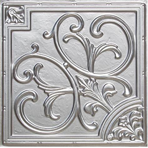 204 silver 2 x 2 pvc decorative ceiling tile glue up