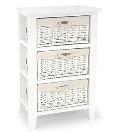 Bathroom Storage Units With Baskets Newport White 3 Drawer Basket Unit Images Frompo