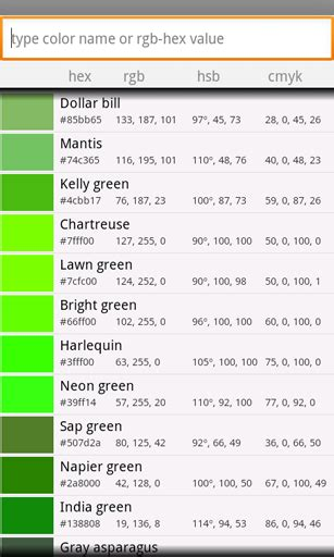 exotic color names app 2 2 exotic colors v1 0 android development and