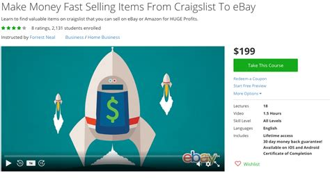 ebay quick sell top 36 udemy courses for moms to make money from home