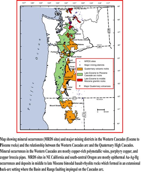 map of oregon volcanoes resources and hazards of hydrothermal systems in cascades
