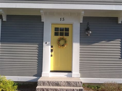 gray house yellow door yellow and gray design with paint benjamin moore yellow