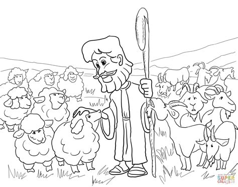 coloring page of jesus and sheep parable of the sheep and the goats coloring page free