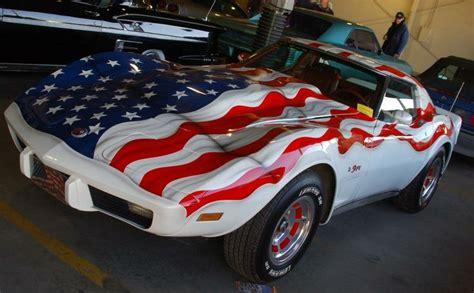 patriotic paint corvette has one of the more