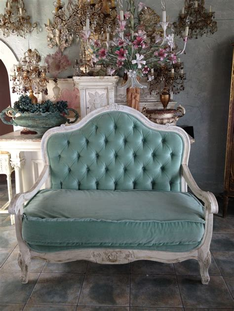 m s settees aqua velvet antique country sofa color aqua teal