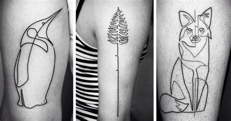 linear tattoos one continuous line tattoos by iranian german artist mo