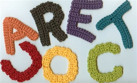 crochet pattern writing 12 crochet letter patterns guide patterns