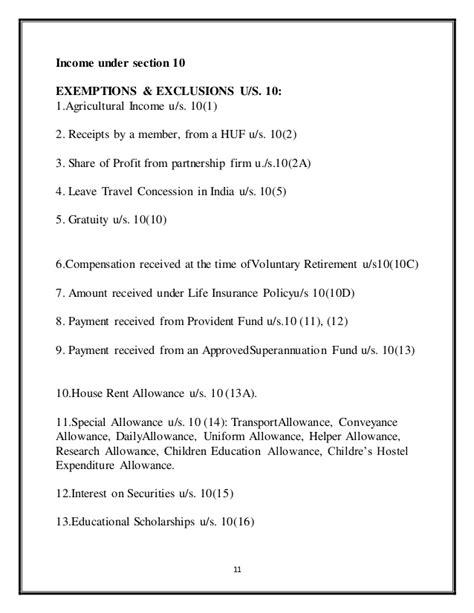 it section 10 exemptions study of income tax reference n definition of house