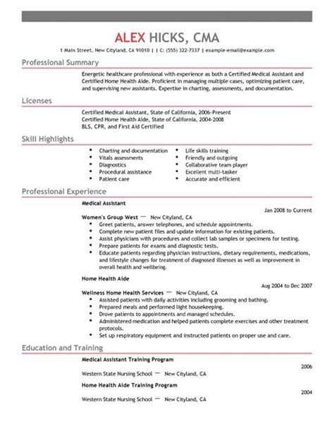 medical resume exles medical sle resumes livecareer