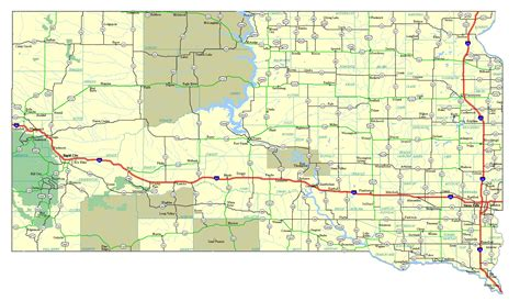 sd map maps update 1000646 south dakota tourist map places to visit in south dakota south dakota