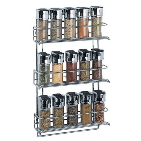 Chrome Spice Rack Wall Mounted oia chrome wall mount spice rack reviews wayfair