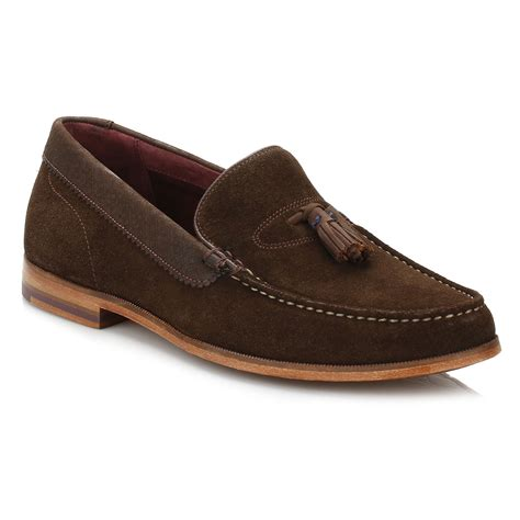 mens suede loafers with tassels ted baker mens brown tassel loafers slim on suede