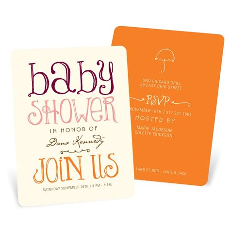 Welcoming Baby Shower by Welcoming Color Baby Shower Invitations Pear Tree