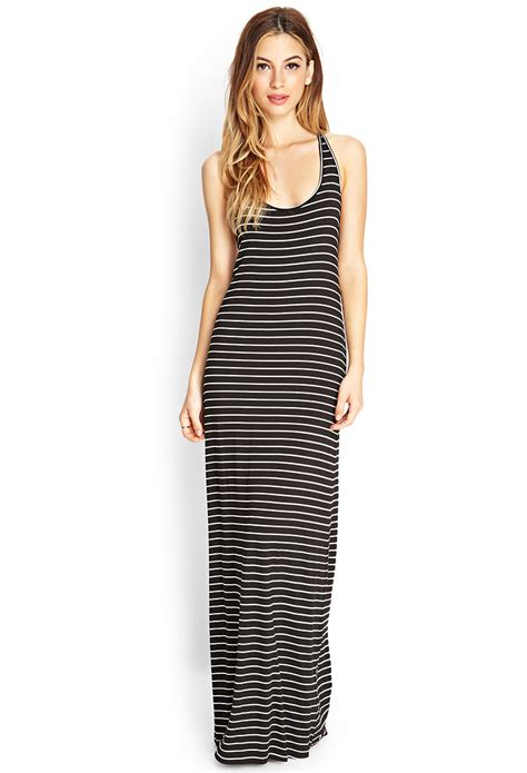 White Black Maxi black and white striped maxi dress oasis fashion