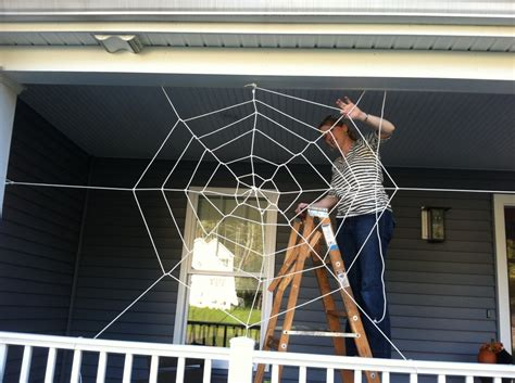 web house a tangled web make your own halloween spider web