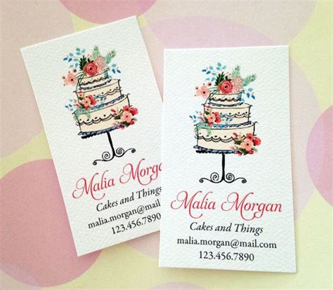 cake business cards templates free personalized business cards custom business cards bakery