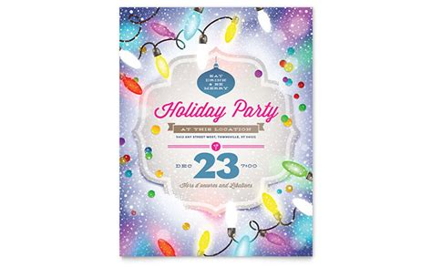 Holiday Party Flyer Template Publisher