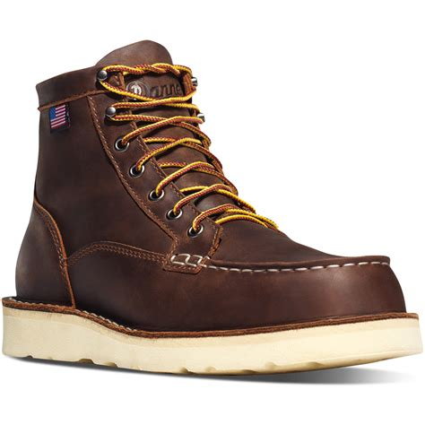 in boots danner bull run moc toe 6 in brown boots