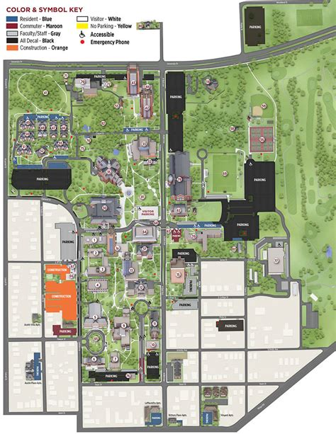 twu housing denton parking map texas woman s university