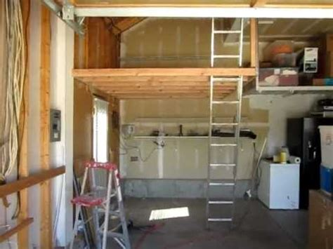 building a loft in garage how to build garage storage loft quick woodworking projects